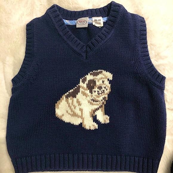 Talbots Kids 6months pullover sleeveless sweater